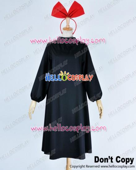 Kikis Delivery Service Majo No Takkyūbin Cosplay Kiki Costume Black Dress