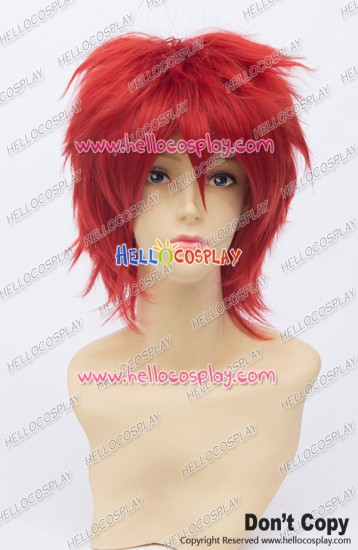 Vocaloid Cosplay Akaito Wig 30CM Seijuro Akashi Wig Red Universal Layered Short
