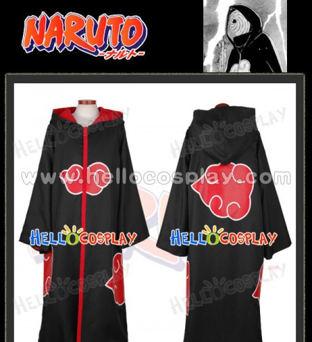 Naruto Cosplay Organization Akatsuki Madara Uchiha Cloak