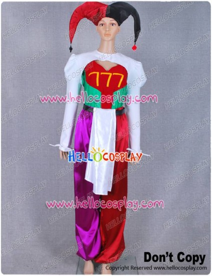 Pierrot Bolneze Female Clown Joker Cosplay Costume From Yakitate Japan