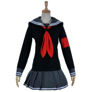 Super Danganronpa 2 Dangan Ronpa Cosplay Peko Pekoyama Costume Girl Uniform