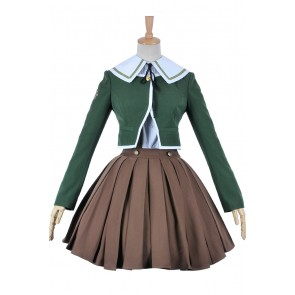 Danganronpa Cosplay Costume Chihiro Fujisaki School Girl Uniform