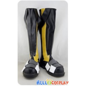 Kagerou Project Cosplay Konoha Black Boots Yellow Stripe