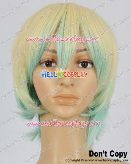 Makai Ouji Devils And Realist Cosplay Camio Gaston Yellow Green Wig