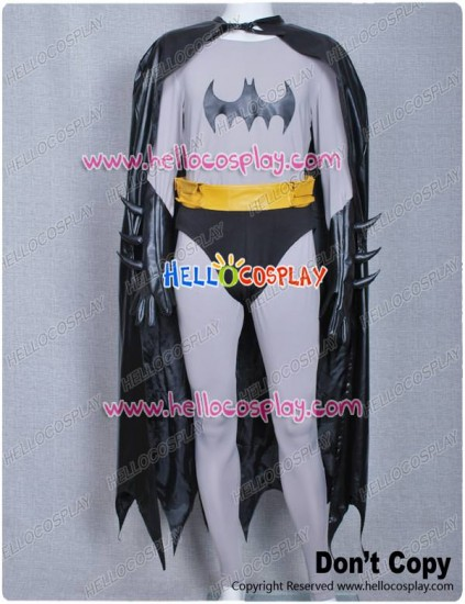 Batman Grey Outfits Silver Costume With Cape