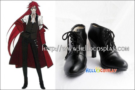 Black Butler Cosplay Grell Sutcliffe Shoes