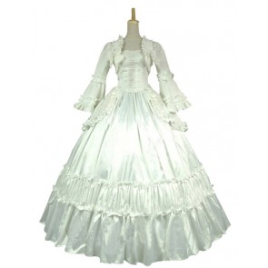 Victorian Lolita Reenactment Theatre Punk Lolita Dress White