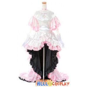 Puella Magi Madoka Magica Cosplay Madoka Kaname Costume Pink Dress
