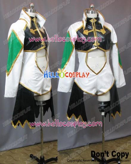Code Geass R2 Cosplay Green Black White Uniform Costume