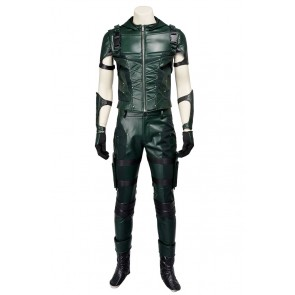 Green Arrow Season 4 Oliver Queen Cosplay Costume Hoodie Combat Uniform