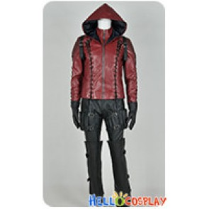 Green Arrow Season 3 Red Arrow Roy Harper Cosplay Costume Leather Jacket