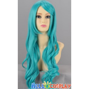 Blue Green Cosplay Curly Wig