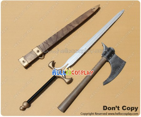 Red Sonja Cosplay Sonja PVC Sword Scabbard Axe Weapon Prop