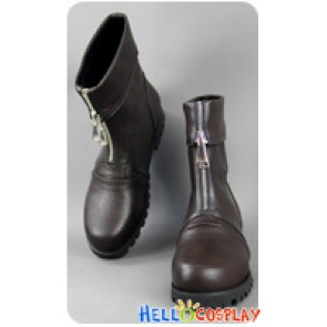 Final Fantasy VII 7 Cosplay Zack Fair Short Boots