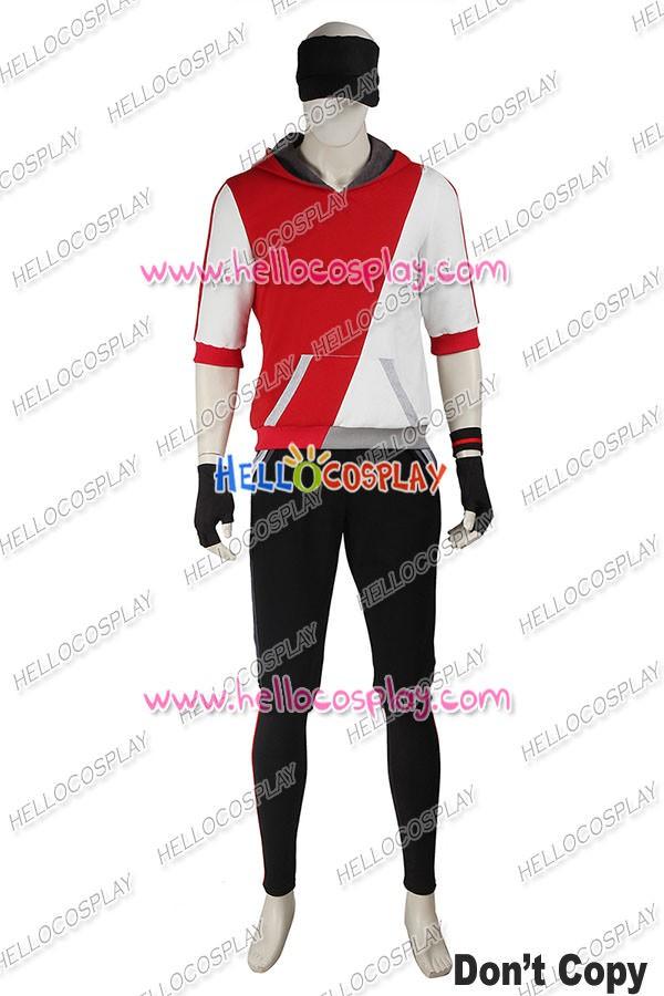 Pokemon GO Male Red Uniform Cosplay Costume ...  sc 1 st  Hello Cosplay & Pokémon GO Game Male Red Uniform Cosplay Costume