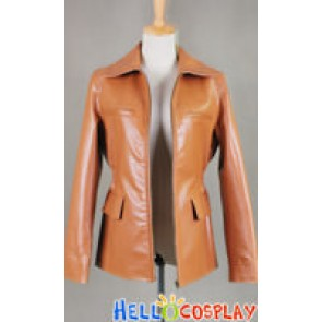 The Hunger Games Katniss Everdeen Leather Jacket Coat Costume