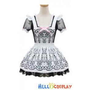 Angel Feather Cosplay Lolita Printing Princess Maid Dress