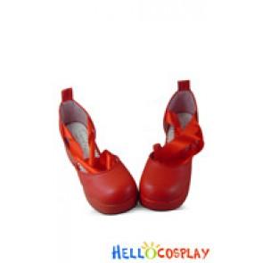 Puella Magi Madoka Magica Cosplay Shoes Madoka Kaname Shoes