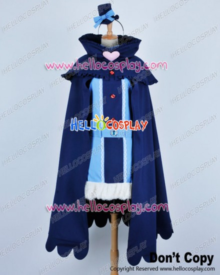 Karneval Cosplay Kiichi Blue Cloak Uniform Costume
