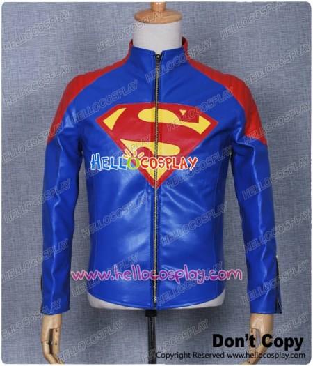 Superman Smallville Clark Kent Cosplay Costume Jacket Blue