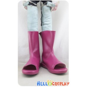 Naruto Cosplay Shoes Himawari Uzumaki Short Boots