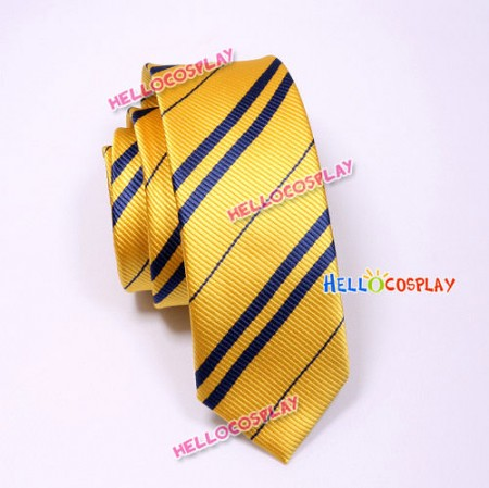 Harry Potter Hufflepuff Yellow & Black Tie Vintage Silk