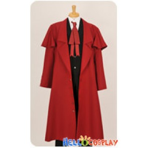 Hellsing Herushingu Cosplay Alucard Red Trench Coat Costume