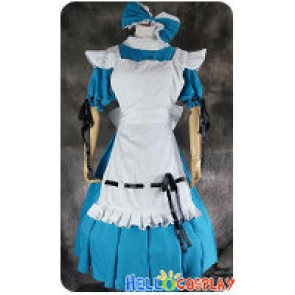 Vocaloid 2 Cosplay Miku Hatsune Alice Maid Dress Costume