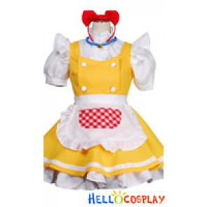 Doraemon Cosplay Dorami Yellow Maid Dress Costume