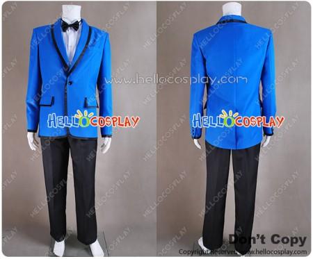 PSY Gangnam Style Cosplay Costume Blue Blazer Suit