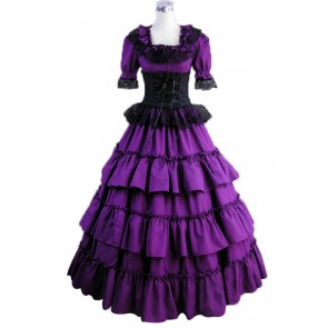 Victorian Gothic Lolita Wedding Purple Dress Ball Gown