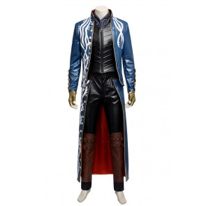 Devil May Cry 3 Dantes Awakening Cosplay Vergil Costume Outfit