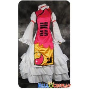 Touhou Project Cosplay Yukari Yakumo Pink Dress Costume