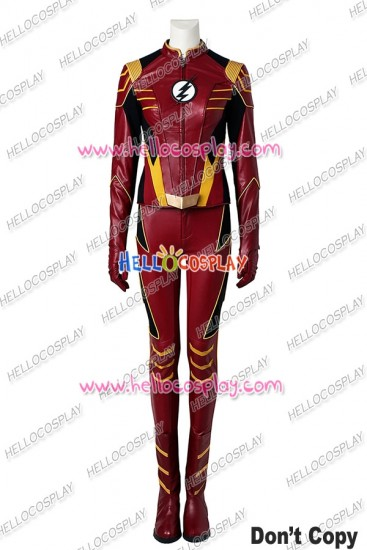 The Flash Season 3 Jesse Quick Cosplay Costume Uniform