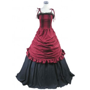 Southern Belle Civil War Ball Gown Prom Red Dress