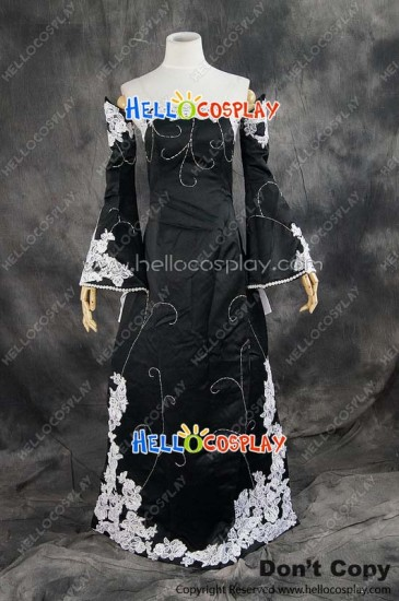 Vocaloid 2 Cosplay Megurine Luka Black Formal Dress Costume