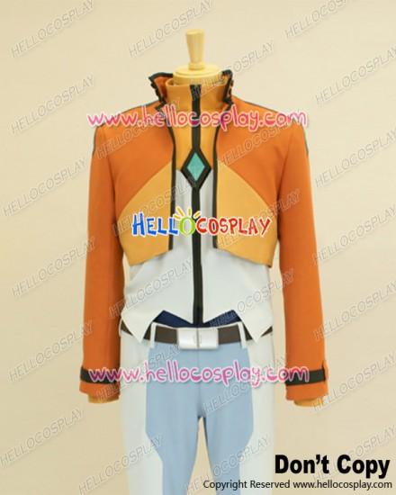 Mobile Suit Gundam 00 Cosplay Allelujah Haptism Orange Uniform Costume
