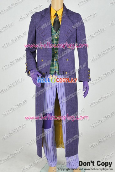 Batman: Arkham Origins Blackgate The Joker Cosplay Costume New Version Trench Coat