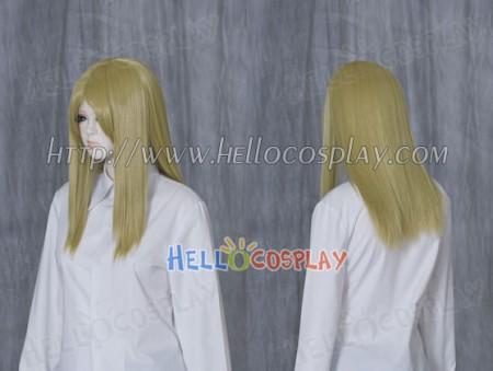 Bright Yellow 50cm Cosplay Straight Wig