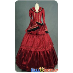 Victorian Lolita Civil War Evening Gothic Lolita Dress Garnet
