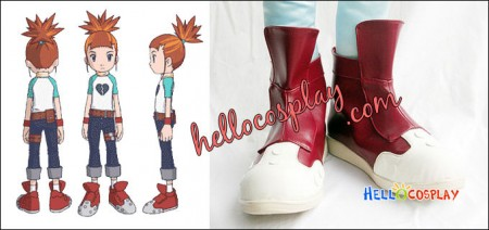 Digimon Tamers Cosplay Rika Nonaka Red Shoes