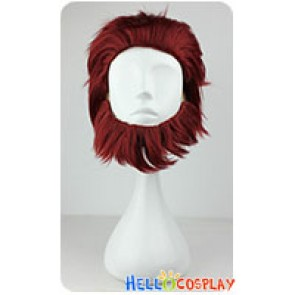 Fate Zero Rider Cosplay Wig Dark Red