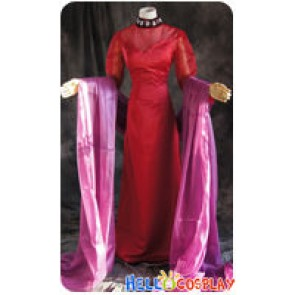 Sailor Moon Cosplay Black Lady Chibiusa Red Dress Costume