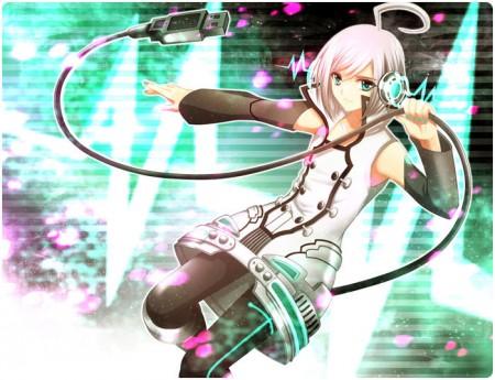 Vocaloid 2 Cosplay Utatane Piko Earphone With Light