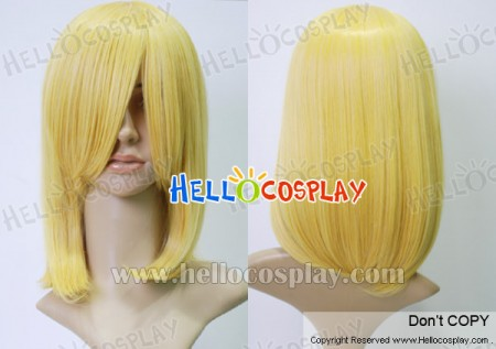 Yellow 45cm Cosplay Straight Wig