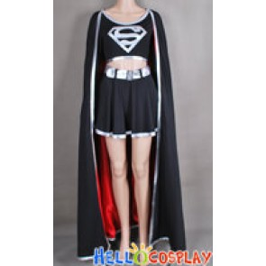 Superman Supergirl Jumpsuit Cosplay Costume Silver