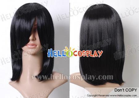 Black 45cm Cosplay Straight Wig