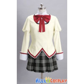 Puella Magi Madoka Magica Cosplay School Girl Uniform