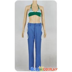 One Piece Cosplay Nami Green Bikini Suit Costume