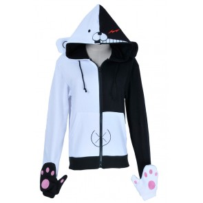 Danganronpa Dangan Ronpa Cosplay Black White Bear Schoolmaster Jacket Costume